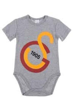 Galatasaray Unisex Bebek Gri Lisanslı Zıbın