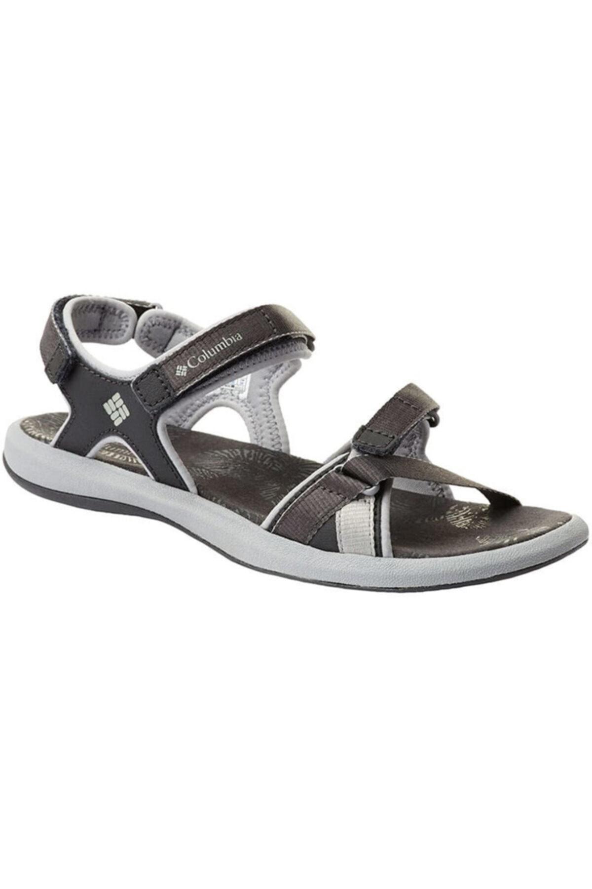 Columbia Kadın Siyah Cırtlı Sandalet 1