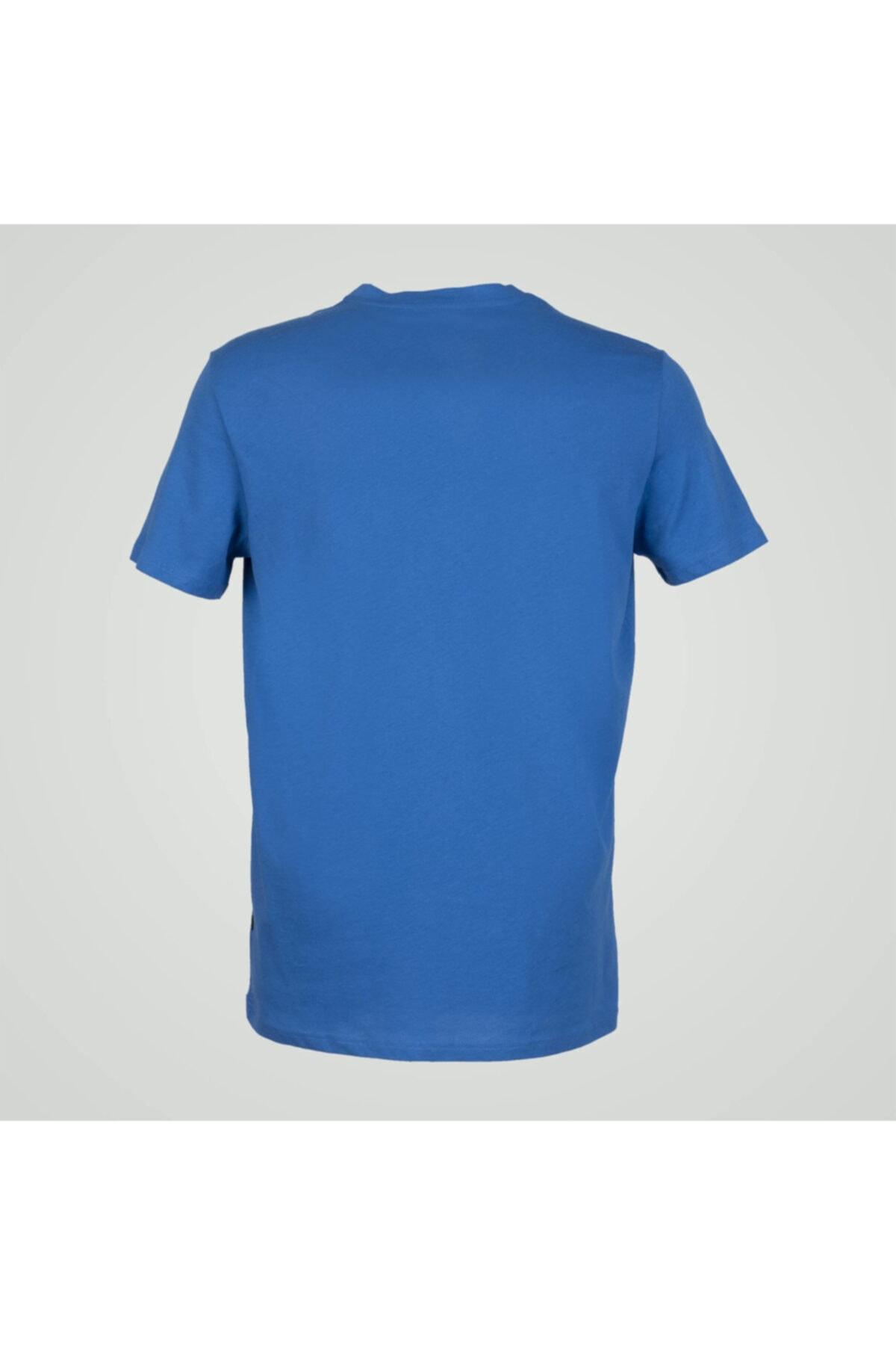 Exuma Erkek Mavi Sıfır Yaka Tişört 2