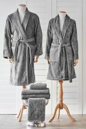 Karaca Home Cornelia Antrasit 6 Parça Private Aile Banyo Seti