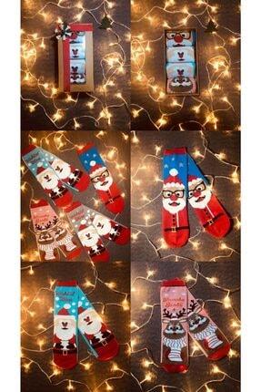 Adel Noel Yılbaşı Çorapları Unisex 4'lü