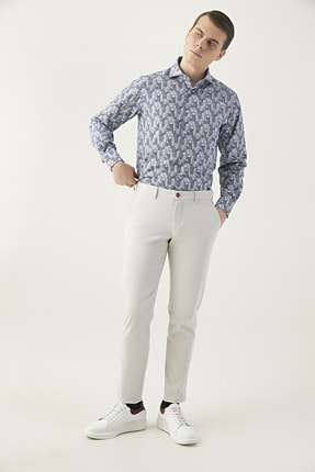 Twn Taş Renk Erkek  Pantolon (Slim Fit)