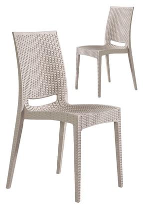 SANDALİE 2 Adet Rattan Sandalye Cappucino