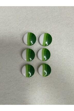 Turuncu Tuhafiye 6'lı Bebe Düğme Seti Yeşil