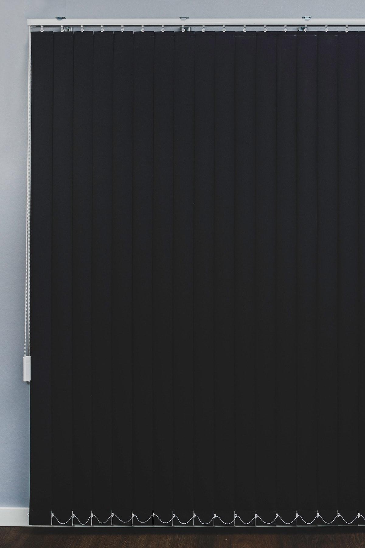 VENTİ PERDE Siyah Karartma Dikey Stor Perde Işık Geçirmez Blackout Perde 1