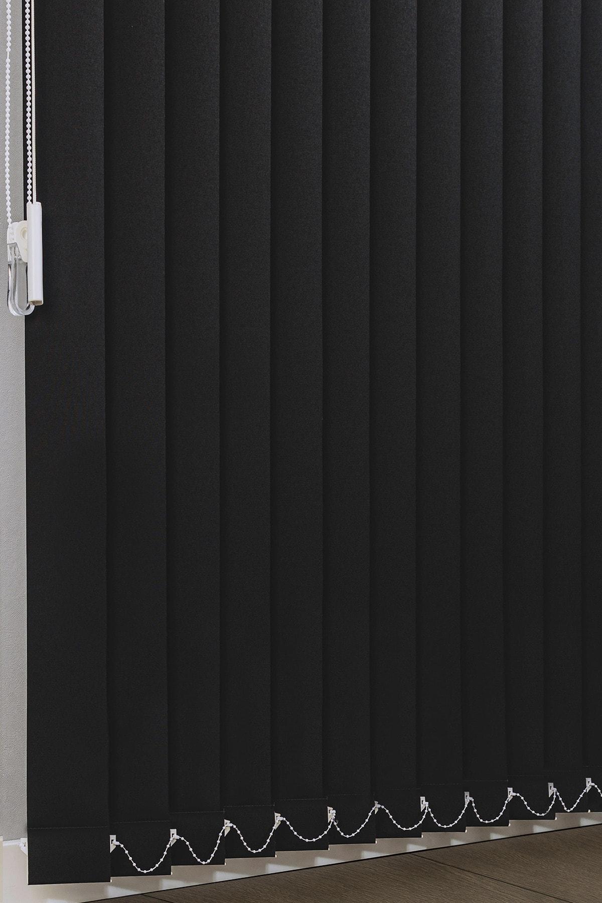 VENTİ PERDE Siyah Karartma Dikey Stor Perde Işık Geçirmez Blackout Perde 2