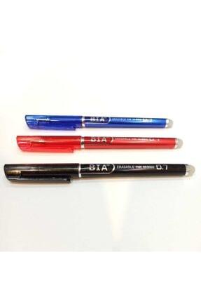BIANI Silinebilir Tükenmez Kalem (ısı Ile Uçan Kalem-terzi Kalemi) / 3 Adet Kırmızı Mavi Siyah