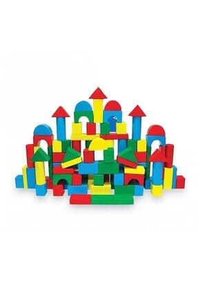 KARSAN Ahşap 100parça Renkli Bloklar