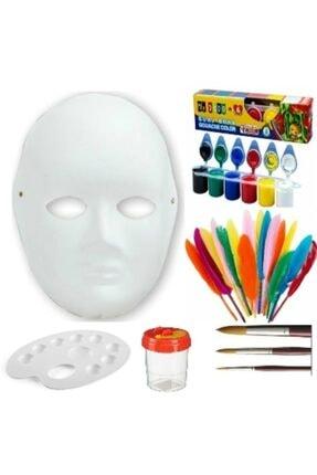 Kırtasiye Market Karton Yüz Maskesi Boyama Seti Çocuklar Için