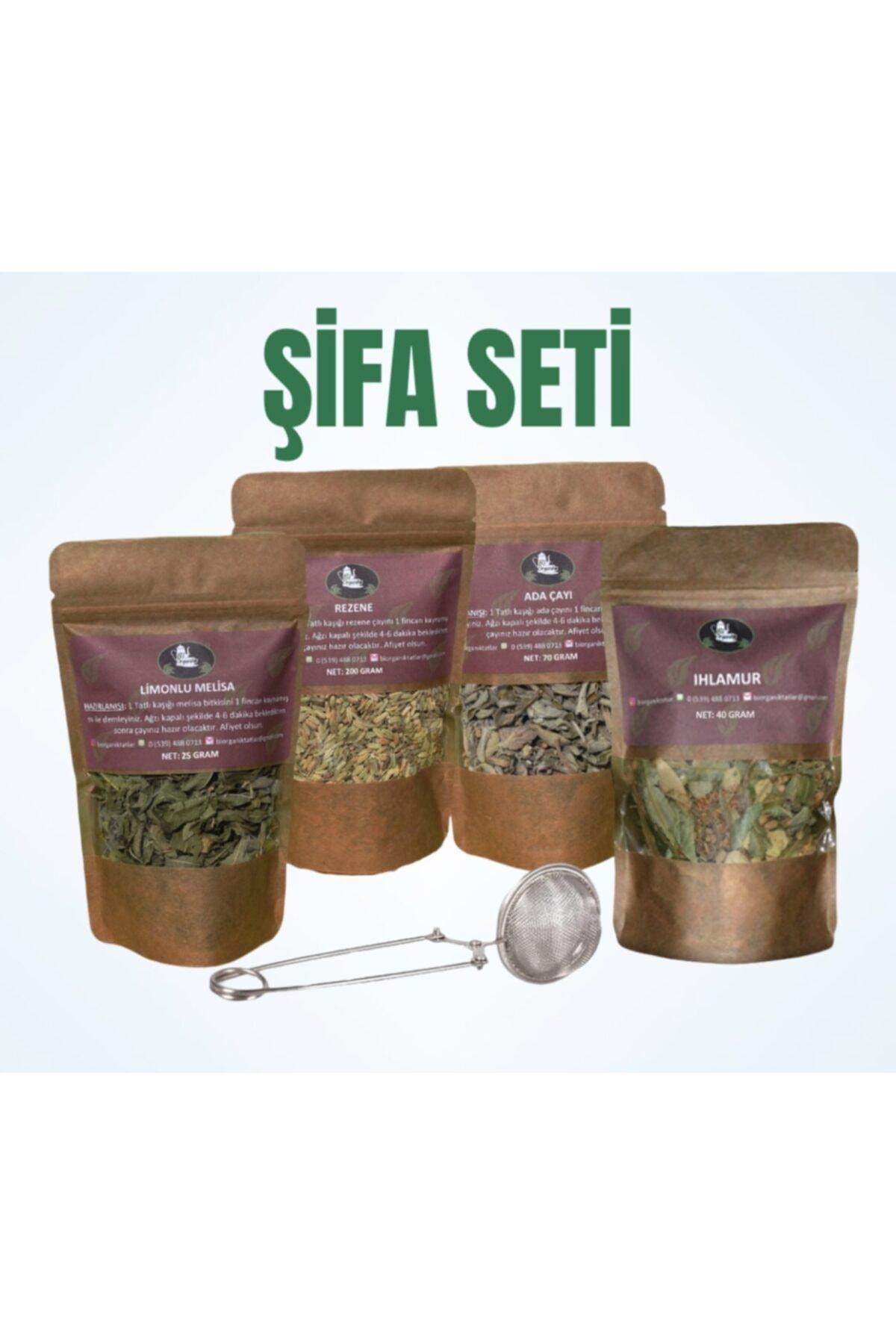 Bi Organik Kış Ayı Şifa Seti, Bitki Çayı, Süzgeç, Ihlamur, Rezene, Ada Çayı, Limon Melisa 2