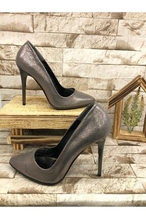 kısmetshoes Kadın Platin Yüksek Topuk Sıvama Stiletto