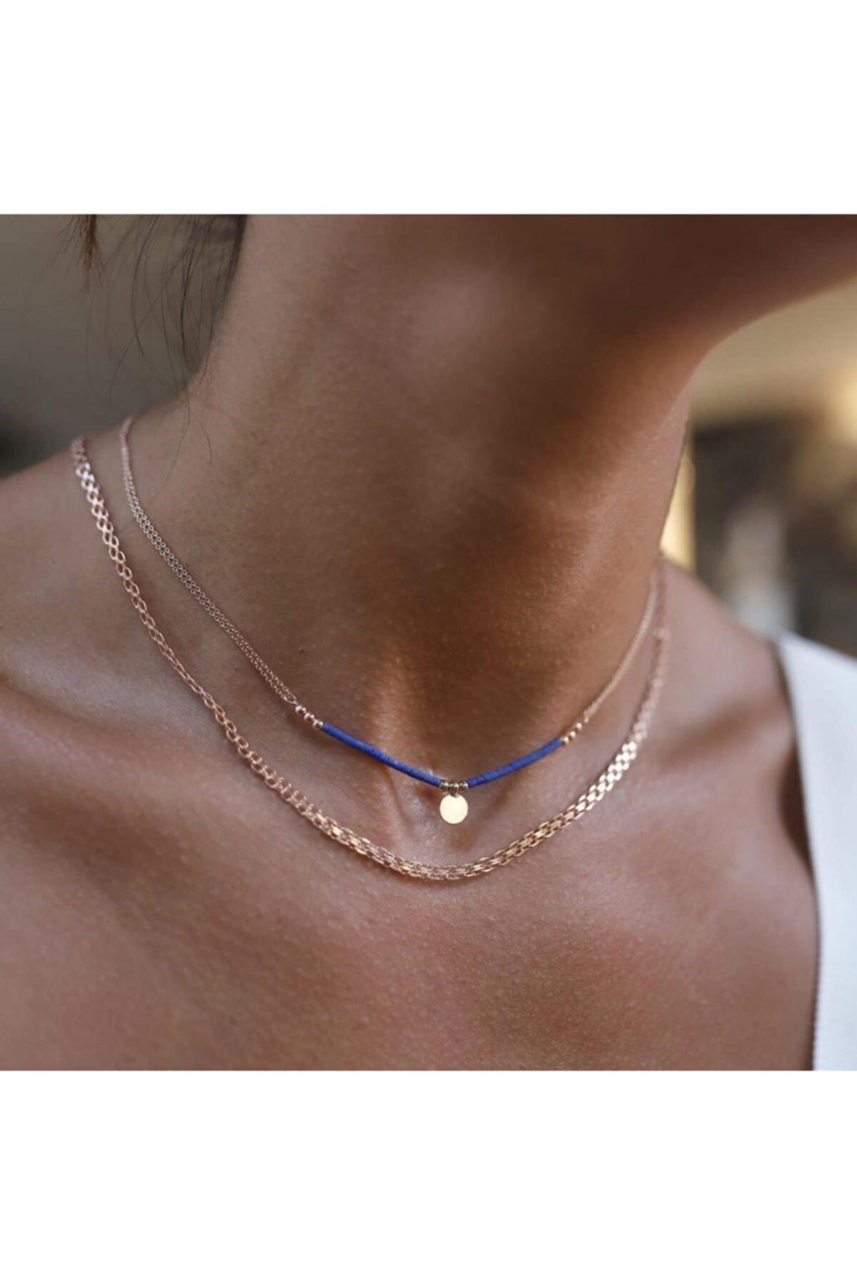 ByGoldenHouse Lapis Lazuli Ve Hasır Kombin 1