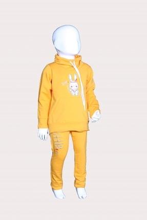 GÖKÇECİK TEKSTİL Eşofman Takım Kızılderili Tavşan – Sarı