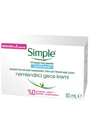 Simple Water Boost Nemlendirici Gece Kremi 50 ml