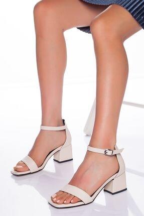 derithy Kadın Bej Klasik  Topuklu Ayakkabı
