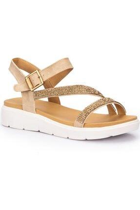 Polaris Kadın Taşlı Sandalet