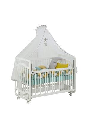 G&G baby Bianco Sweet Dreams Anne Yanı Beşik Örgü Koruma Uyku Setiyle