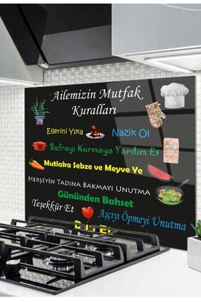 Olinpa 60x52 Cm Cam Ocak Arkası Koruyucu Tezgah Ankastre Arkası Koruyucu | Mutfak Kuralları