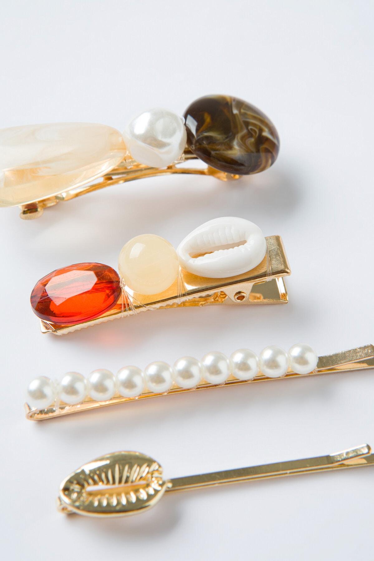 Penti Çok Renkli Pearl Toka Set 2