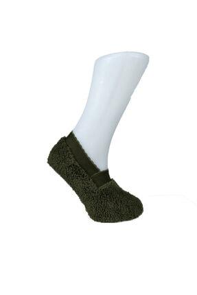 ADEL ÇORAP Yeşil Renkli Peluş Patik Çorap