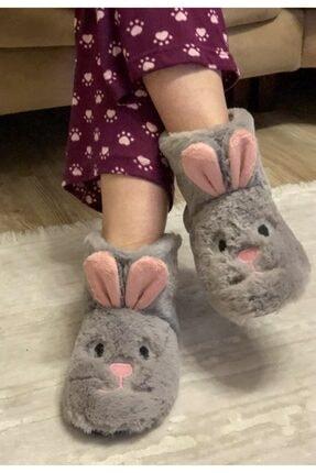 MİADORA Gri Tavşan Model Panduf
