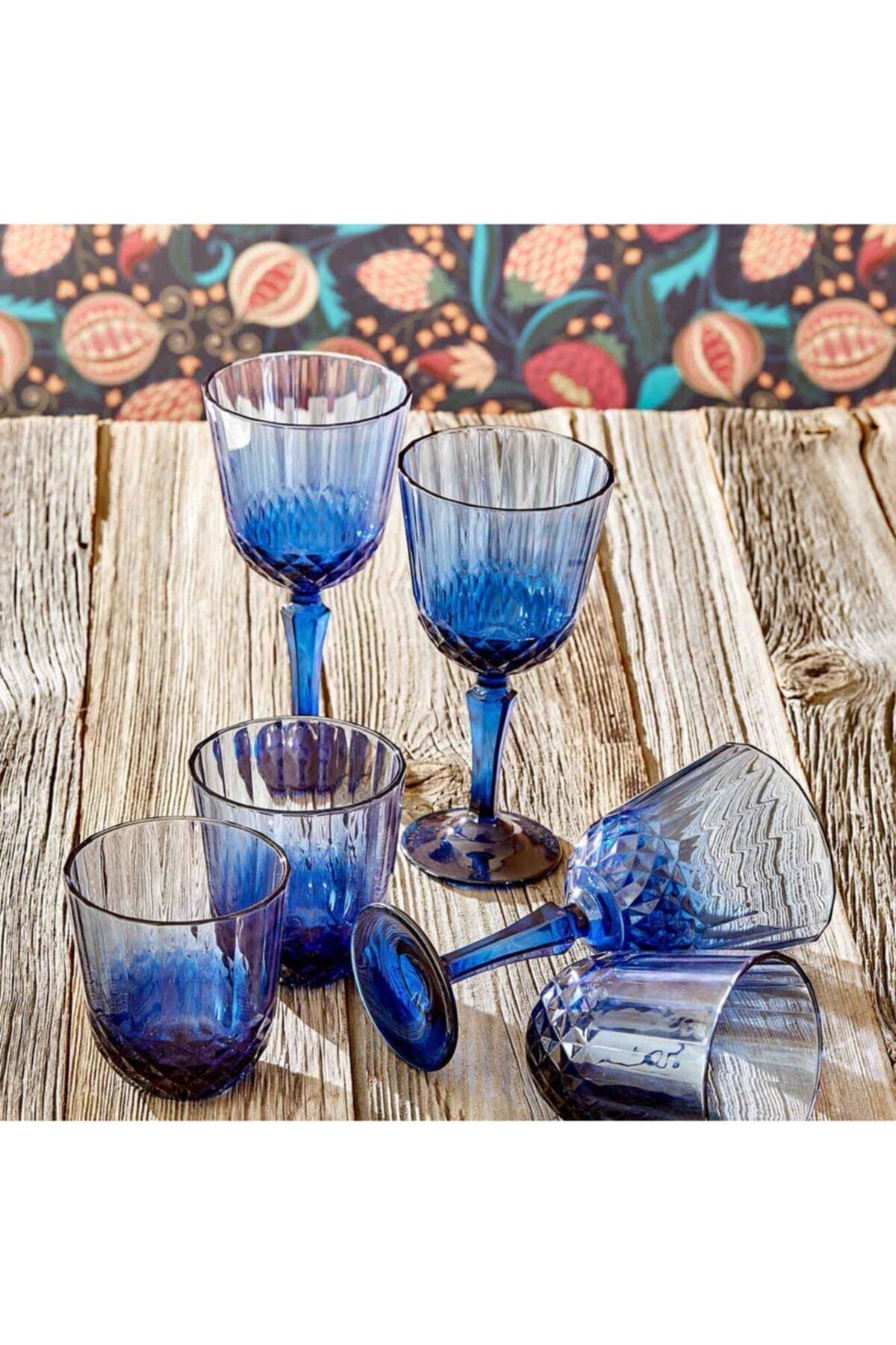 Bella Maison Colore Kesme Kadeh 6′lı Mavi (310 Cc) 2