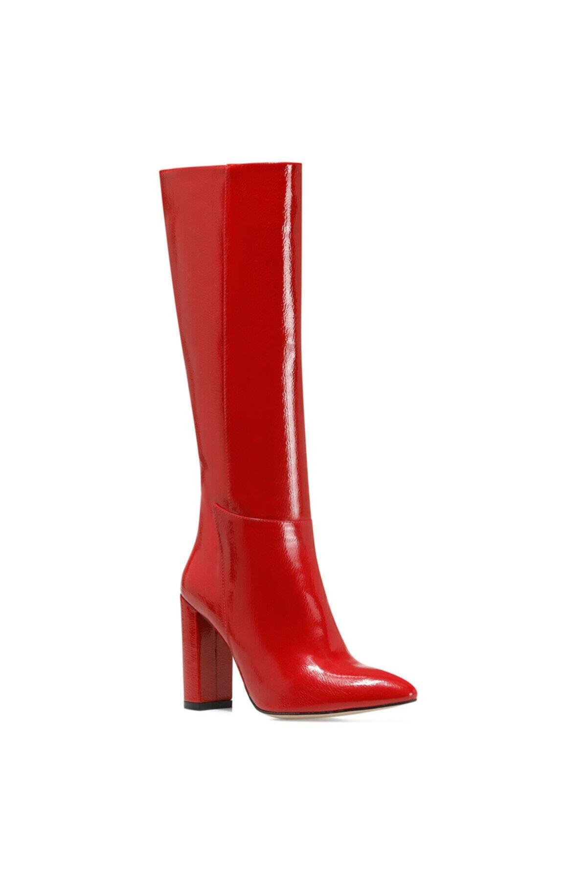 Nine West MIMA Kırmızı Kadın Ökçeli Çizme 100582031 2