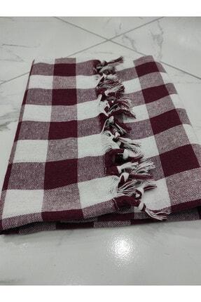 Güçlü Tekstil Bordo 2 Adet Sofra Bezi Piknik Örtüsü 150x150
