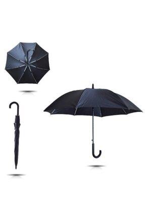 TREND Kırılmaz Fiber 10 Telli Erkek Baston Şemsiye Siyah 7712