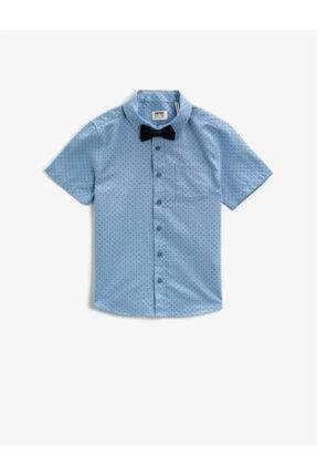 Koton Erkek Çocuk Mavi Kısa Kollu Gömlek