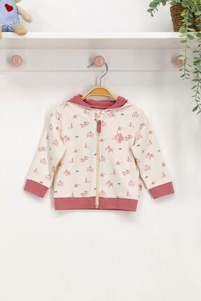 U.S. Polo Assn. Kız Bebek Ekru Sweatshirt