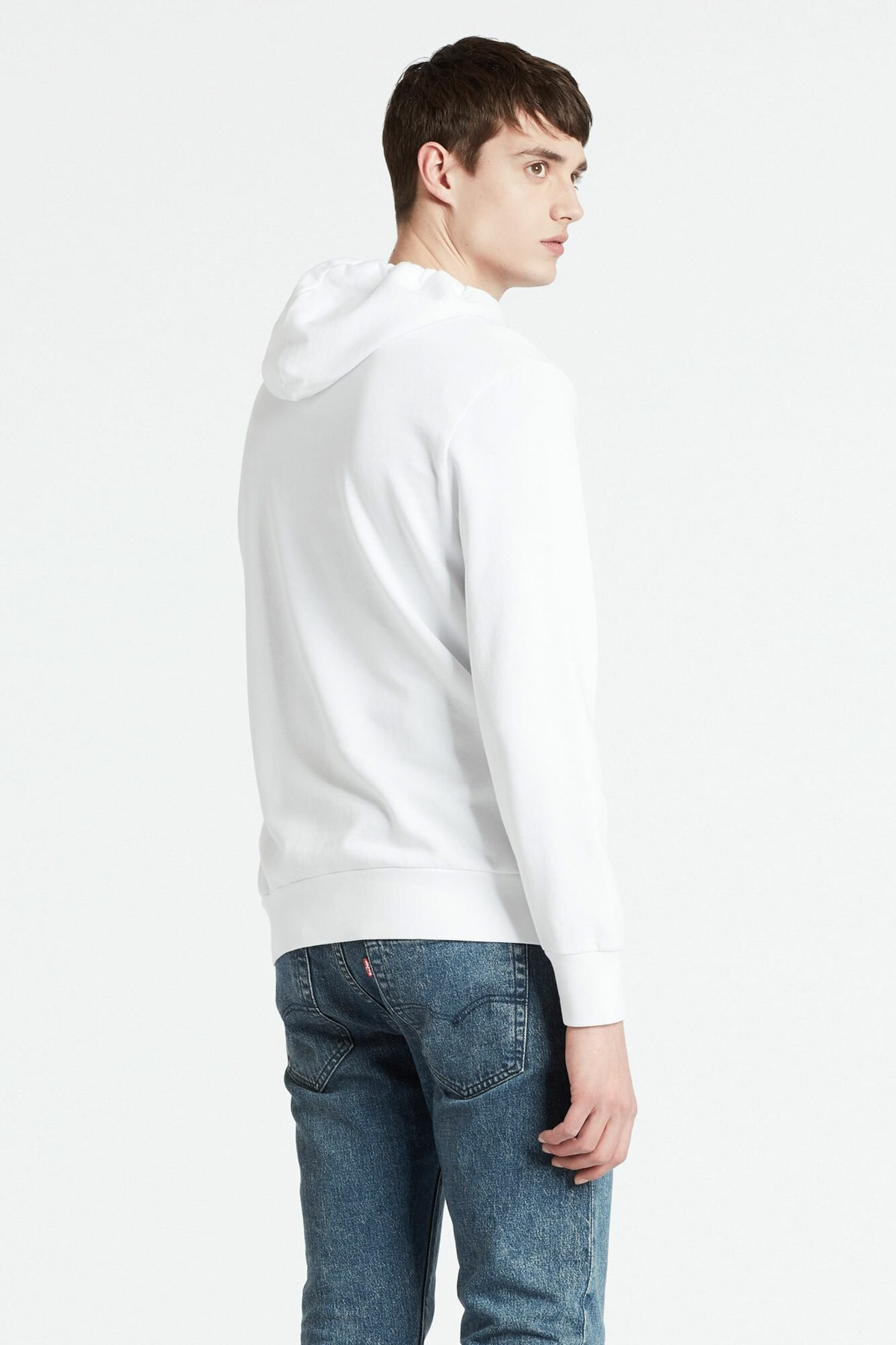 Levi's Erkek Beyaz Kapüşonlu  Sweatshirt 19622-0069 2