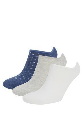 DeFacto Erkek Renkli 3lü Babet Çorap