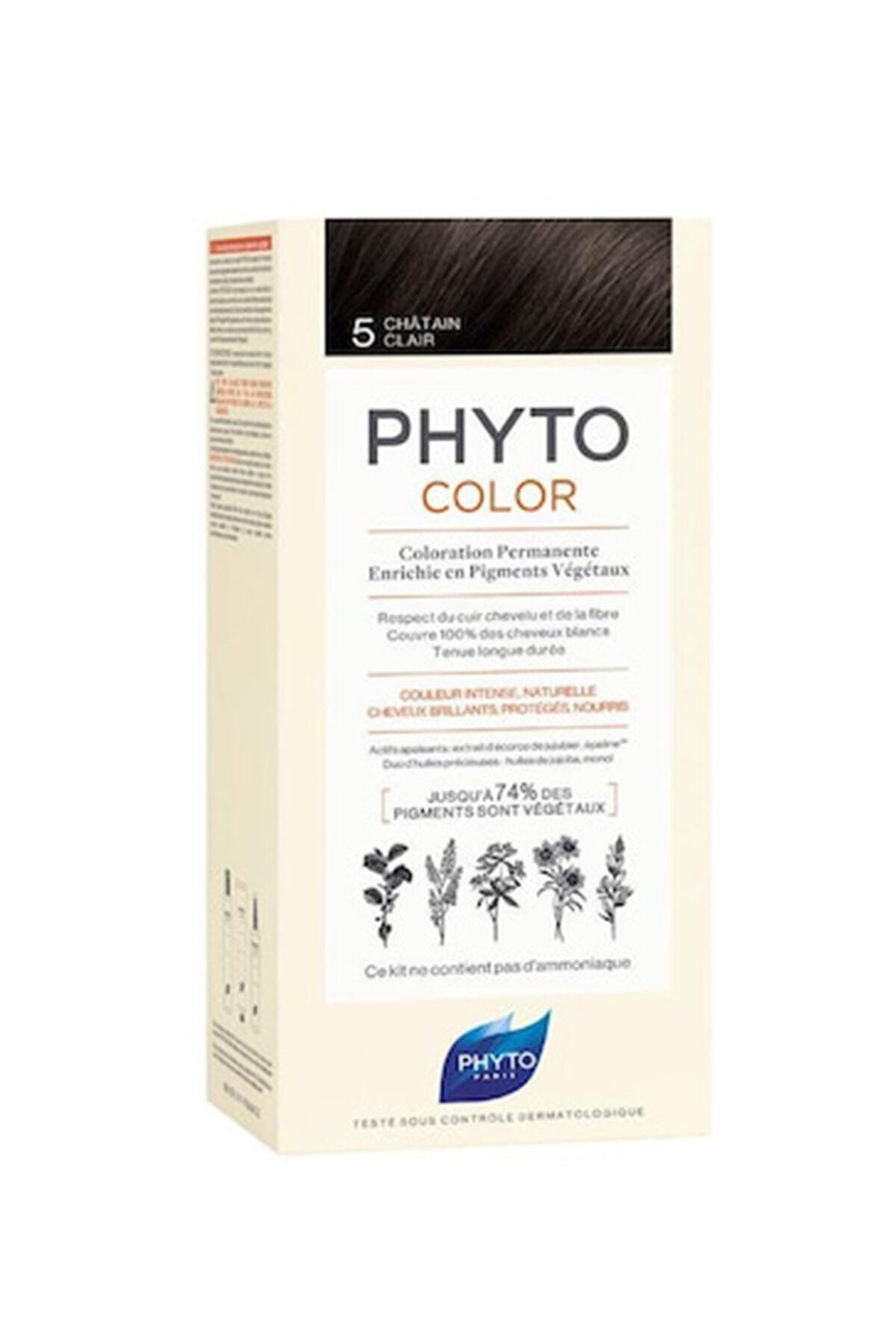 Phyto Color 5 Açık Kestane Saç Boyası Yeni Seri 1