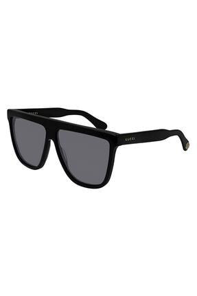 Gucci Unisex Siyah Dikdörtgen Güneş Gözlüğü Gg0582s 001