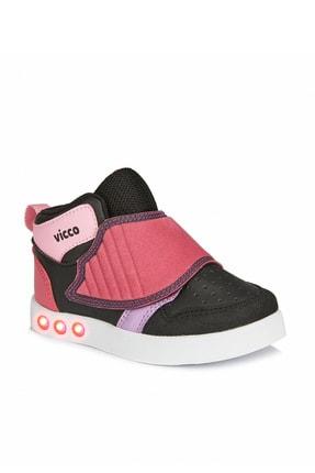 Vicco Ufo Kız Çocuk Siyah/Pembe Spor Ayakkabı Sneaker