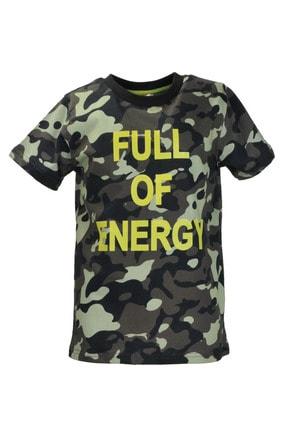 Zeyland Haki Kamuflaj Desenli T-shirt (5-14YAŞ)