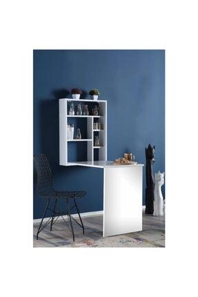 Dzdizayn Beyaz Duvara Monteli Katlanır Mutfak Ve Çalışma Masası