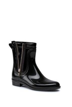 Tommy Hilfiger Kadın Siyah Rainboot Yağmur Botu Fw0fw05180