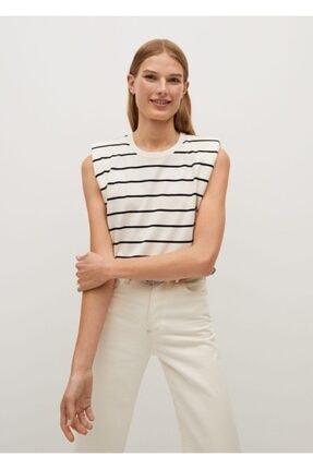 MANGO Woman Organik Pamuklu Vatkalı Tişört