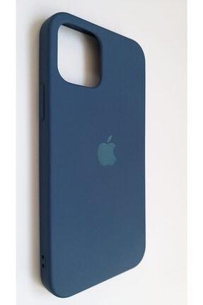 Pirok Store Iphone 12 Pro 6.1 Lacivert Lansman Içi Kadife Logolu Silikon Kılıf