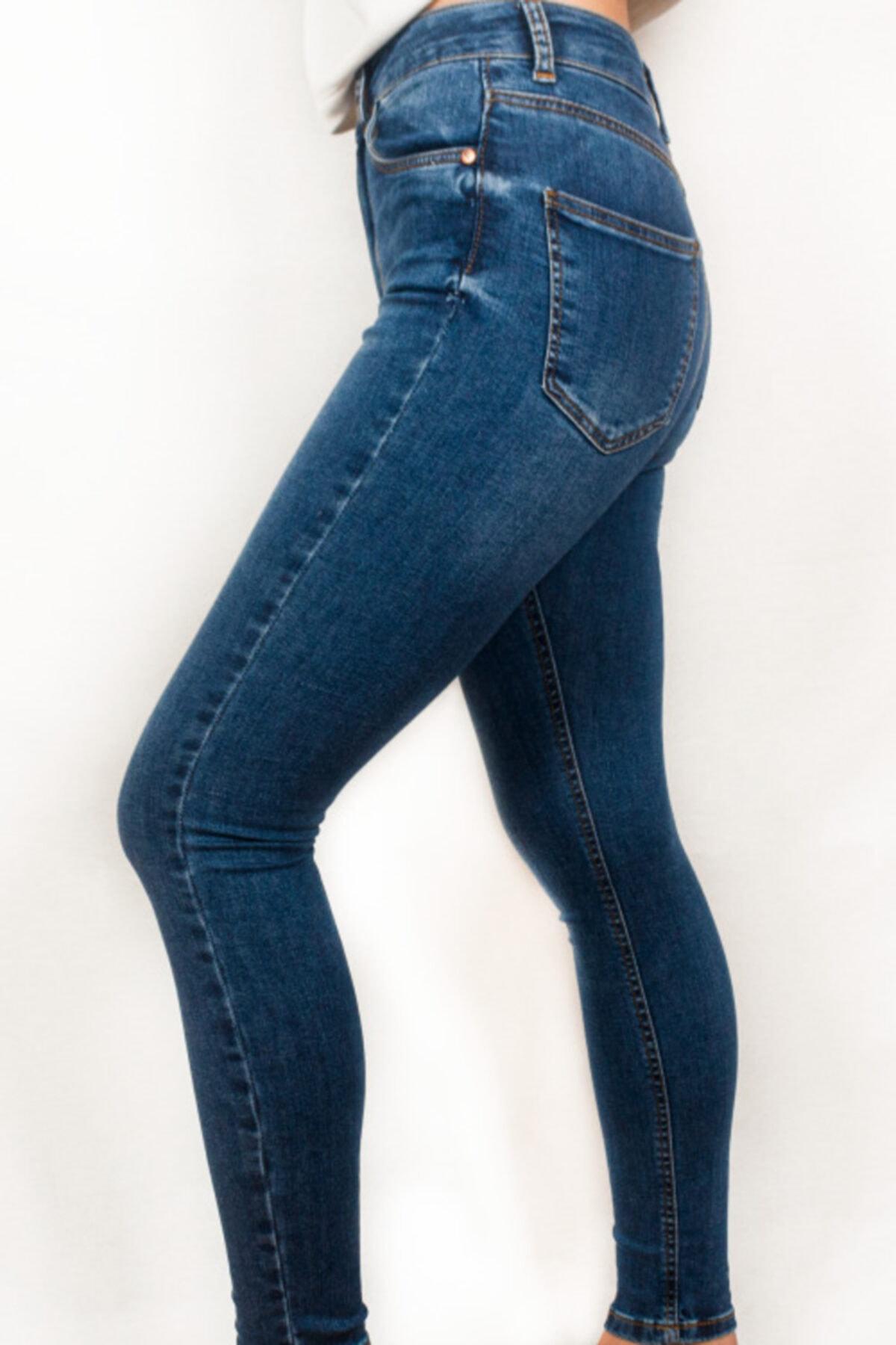 Maze Butik Kadın Yüksek Bel Kot Pantolon 2