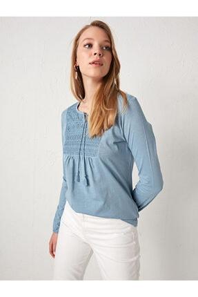 LC Waikiki Kadın Mavi Bluz