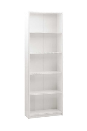 Adore Mobilya Modern 5 Raflı Kitaplık - Lake Beyaz