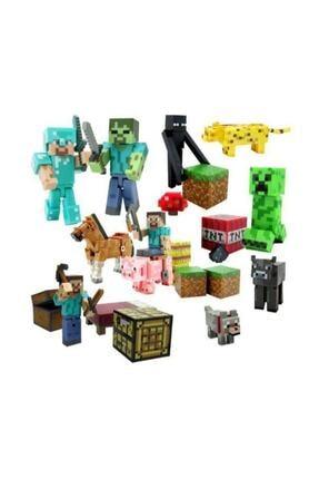 2 Kids's Minecraft Aksiyon Figür Lego Oyuncak Seti