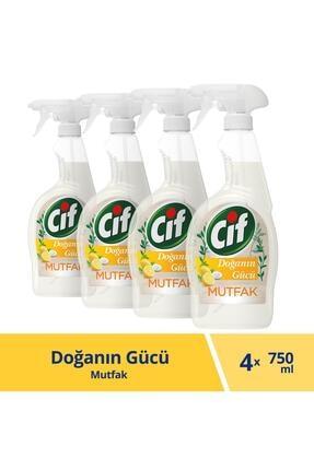 Cif Doğanın Gücü Mutfak Limon Ve Karbonat Sprey Temizleyici 750 ml X 4 Adet