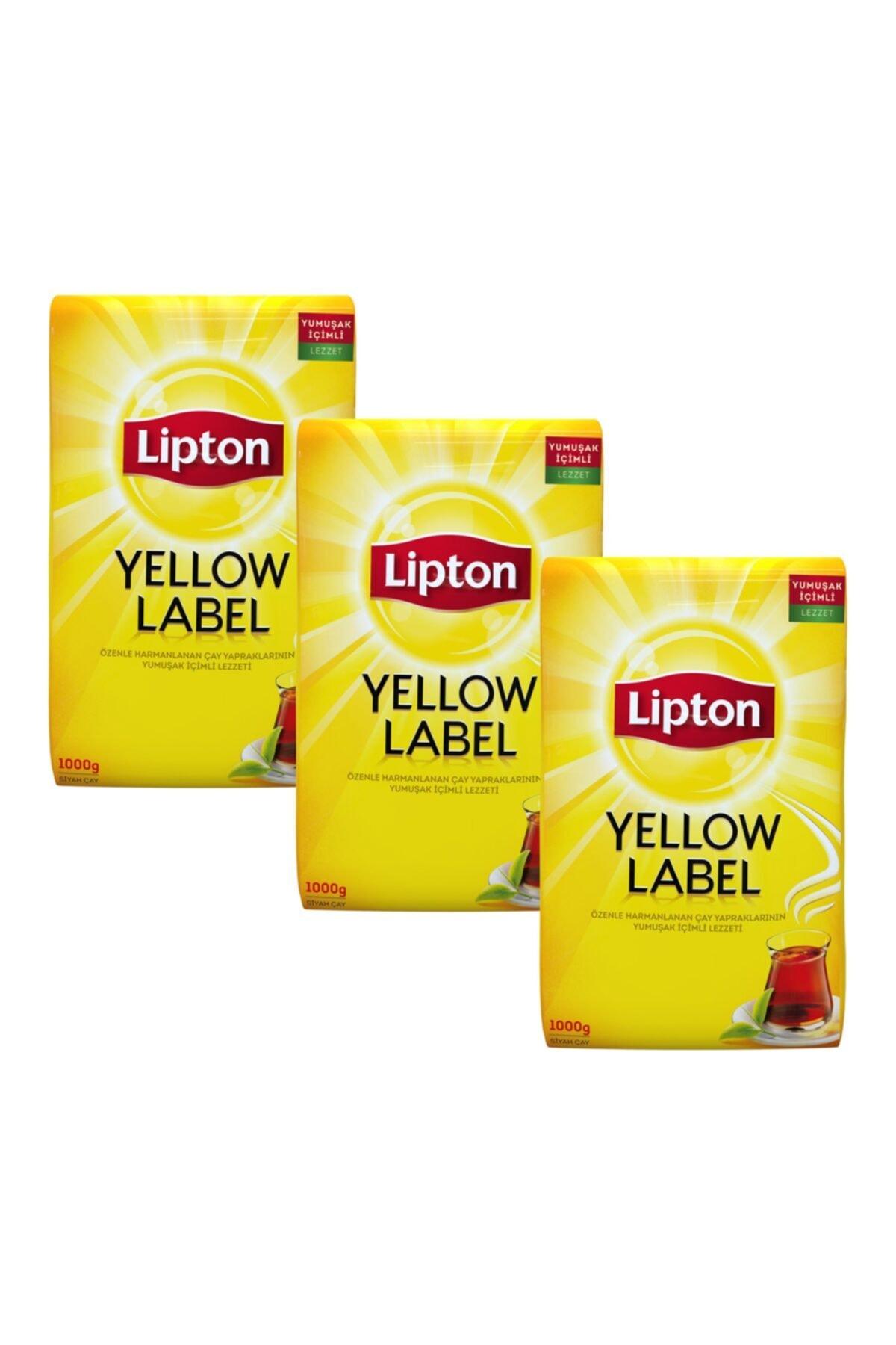 Lipton Yellow Label Dökme Çay 1000 gr X 3 Adet 1