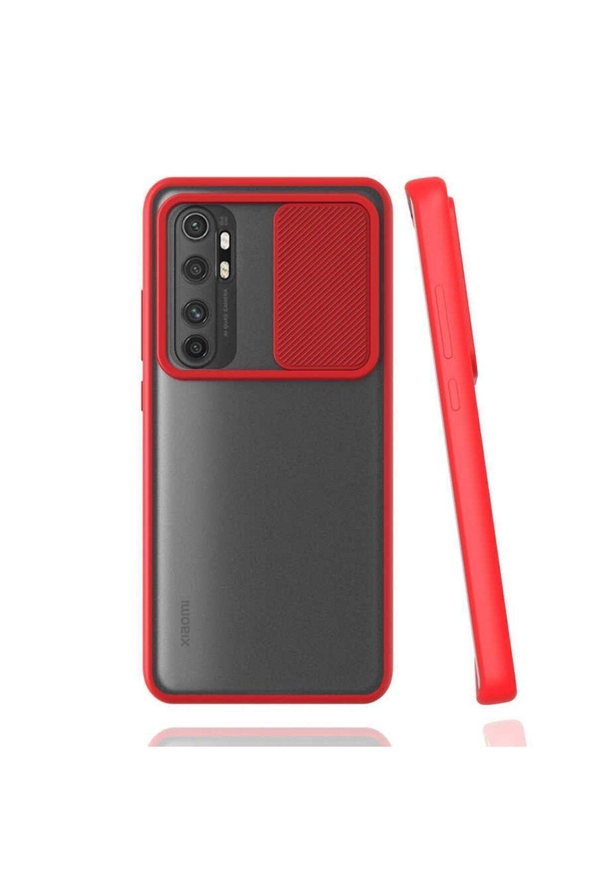 Teleface Xiaomi Mi Note 10 Lite Kılıf Slayt Kamera Korumalı 1