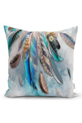 Realhomes Kuş Tüyü Tasarımlı Modern Yastık Kırlent Kılıfı