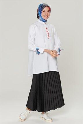 Armine Kadın Ekru Detaylı Trend Bluz 20ya3862